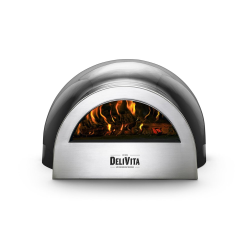 Wood-fired outdoor oven, H35 x W59 x D65cm, Very Black