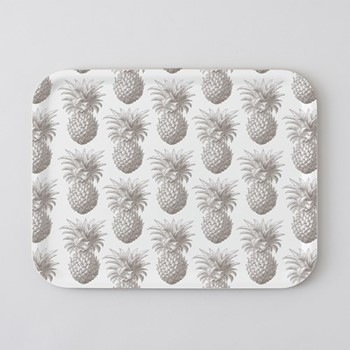 Pineapple Large tray, 43 x 33cm, birch veneer/grey
