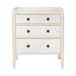 Catous Small chest of drawers, L62 x W40 x H73cm, White Wood