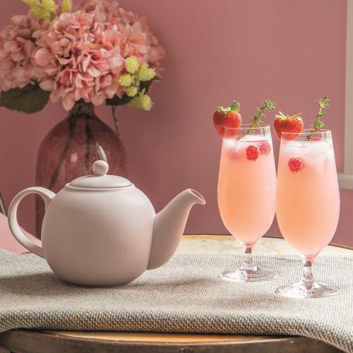 Globe Teapot, 1.2L, Nordic Pink