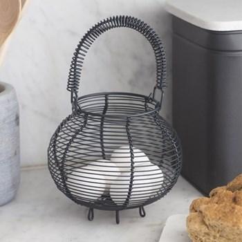 Brompton Egg basket, H28 x W17 x D17cm, carbon/steel