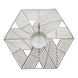 Pinwheel Set of 4 geometric placemats, 36 x 42cm, gunmetal