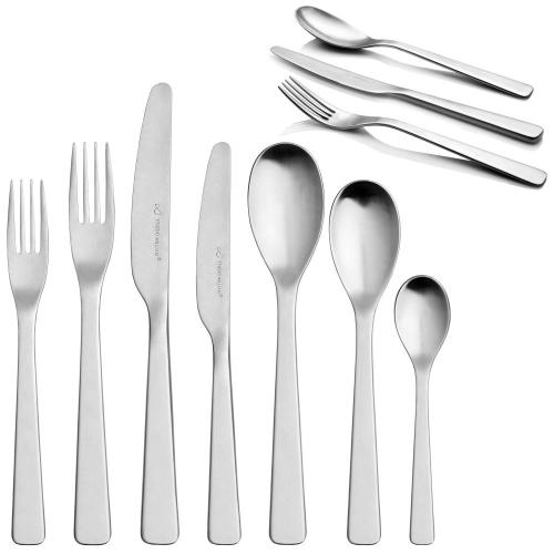 Baobab English teaspoon, satin finish stainless steel