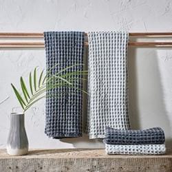 Nola Hand towel, 100 x 50xm, washed charcoal