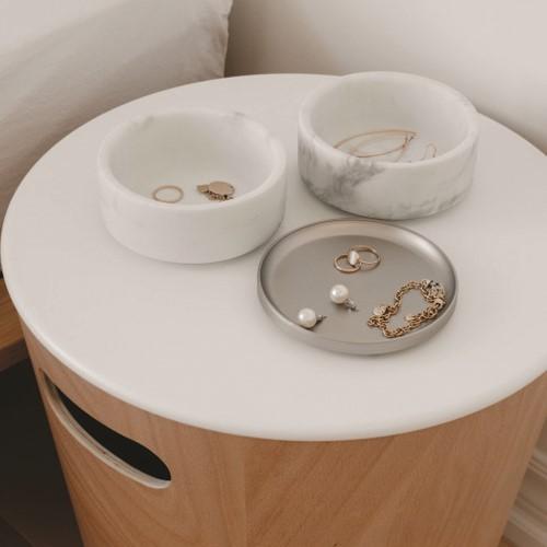 Tesora Jewellery organizer, 13 x 13 x 11cm, white/nickel