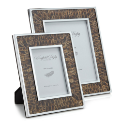 """Feather and Glass Photograph frame, 7 x 5"""", Hen Pheasant"""