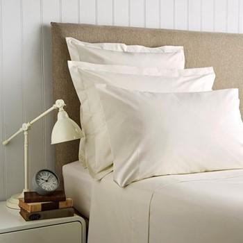400 Thread Count Sateen Double duvet cover, L200 x W200cm, linen