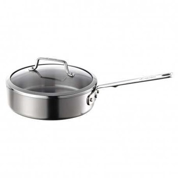 Authority Multi-Ply Clad Saute pan with lid, 2.8 litre - 24cm, stainless steel