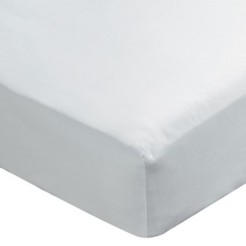 Paramount Double fitted sheet, L190 x W135 x H34cm, white