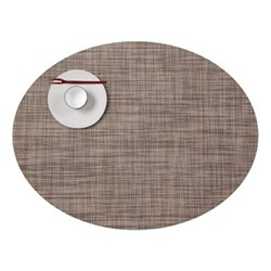 Mini Basketweave Set of 4 oval placemats, 36 x 49cm, soapstone