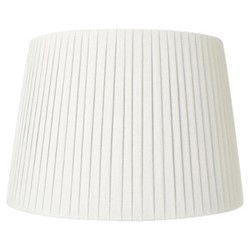 Pleated Lampshade, D40 x H28cm, white
