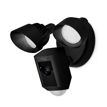 Ring Floodlight Cam Smart floodlight security camera with built-in Wi-Fi and siren alarm, siren black