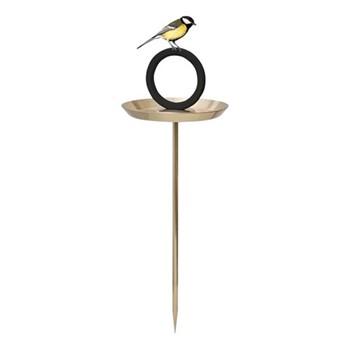 Bird bath, 22 x 22 x 60cm, stainless steel/goldplated