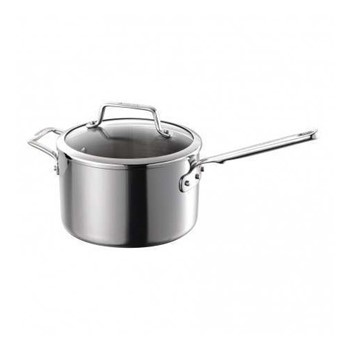 Authority Multi-Ply Clad Saucepan with lid, 3.8 litre - 20cm, stainless steel