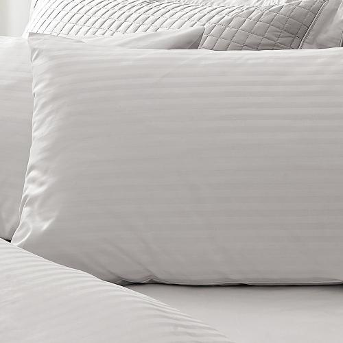 Millennia 1200TC Standard pair of pillowcases, 50 x 75cm, Silver