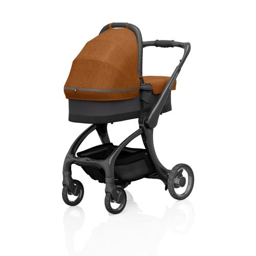 J-carbon Carrycot, Bombay rust, H18 x W44 x L88cm, Orange
