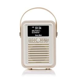 Retro Mini DAB radio, H22 x W15 x D10.5cm, cream