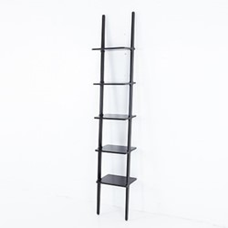 Libri Shelf, W38 x D30 x H227cm, black ash