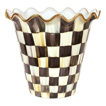 Courtly Check Flower pot, W45.72 x W22.86 x H41.91, black & white