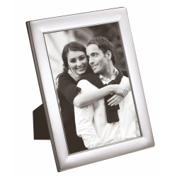 """W Series - Plain Photograph frame, 5 x 3.5"""", silver plate with mahogany finish back"""