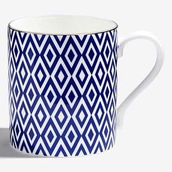 Aragon Mug, H8.4 x D7.6cm, midnight blue & white