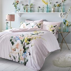 Elegant King size quilt cover, 228 x 218cm, blush
