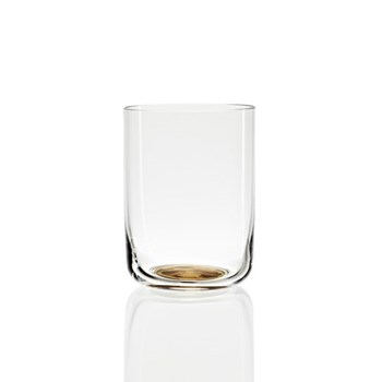 Gold Dot High water glass, H9 x L6.5 x W6.5cm, clear