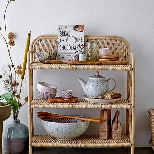 Ezra Bookcase, H70 x W24 x L60 cm, Beige/ Natural