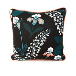 Wood Iris Outdoor accent pillow, L50.8 x H50.8cm, multi