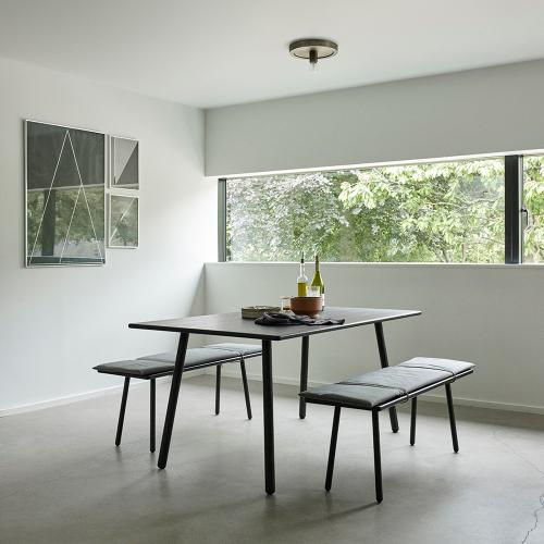 Georg Dining table, L155 x W90 x H73cm, Black