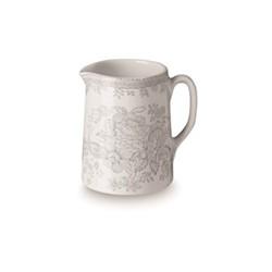 Dove Grey Asiatic Pheasants Mini tankard jug, 160ml, grey/white