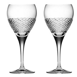 Tiara Pair of small wine glasses, 19.5cm