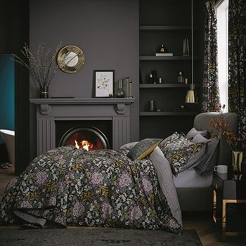 Peony Trail Double duvet cover set, L200 x W200cm, midnight