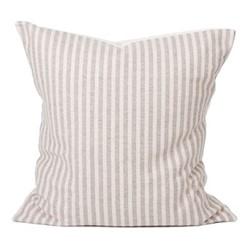 Harbour Stripe Cushion, 60cm, mushroom