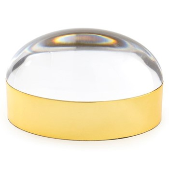Globo Large box, W25.4 x D12.7 x H13.25cm, clear/polished brass
