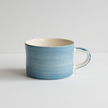 Plain Wash Set of 6 mugs, H7 x W10.5cm, denim
