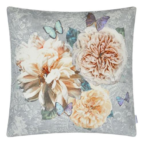 Pahari Cushion, H55 x W55cm, Platinum