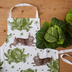 Classic Rabbit & Cabbage Apron, 60 x 80cm