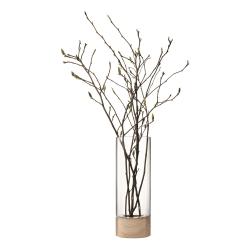 Lotta Vase/lantern and ash base, W22 x H62cm, clear