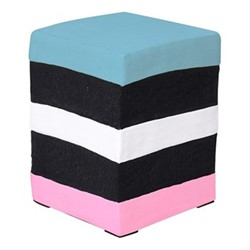Pick 'n' Mix Square sweet stool, H40 x W30 x D30cm, blue/pink