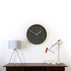 Mr Clarke Wall clock, 53 x 53 x 5.5cm, oil grey