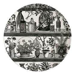 Botanist Plate, Dia25.5cm, black/white