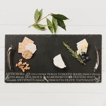 Engraved Medium antipasti serving tray, 35 x 25cm