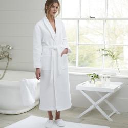 Waffle Unisex bath robe, small, White