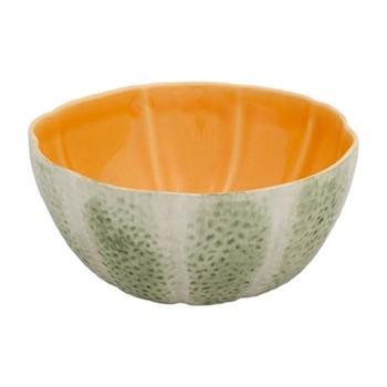 Melon Set of 4 bowls, 15 x 14.5 x 7.5cm, green/orange