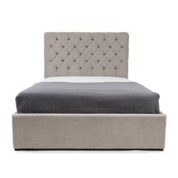 Skye King size bed with storage, H128 x W165 x D213cm, Owl Grey