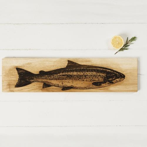 Salmon Large serving platter, L60 x W15 x H1.8cm, Oak
