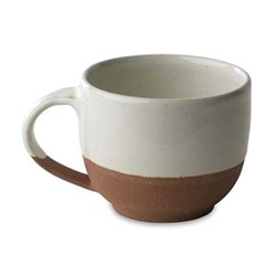 Mali Coffee mug, D8 x 9.5cm, white & terracotta
