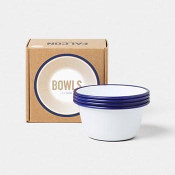 Set of 4 enamel bowls D12cm