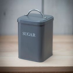 Sugar canister, H20 x W12 x D12cm, Charcoal